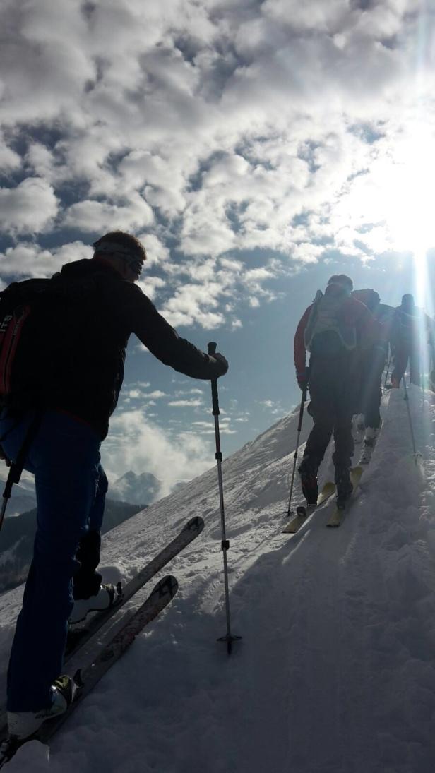 Knapp vor dem Gipfel